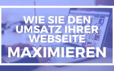 Umsatz der Website maximieren